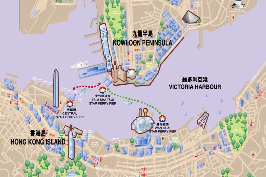 Map of ferry services