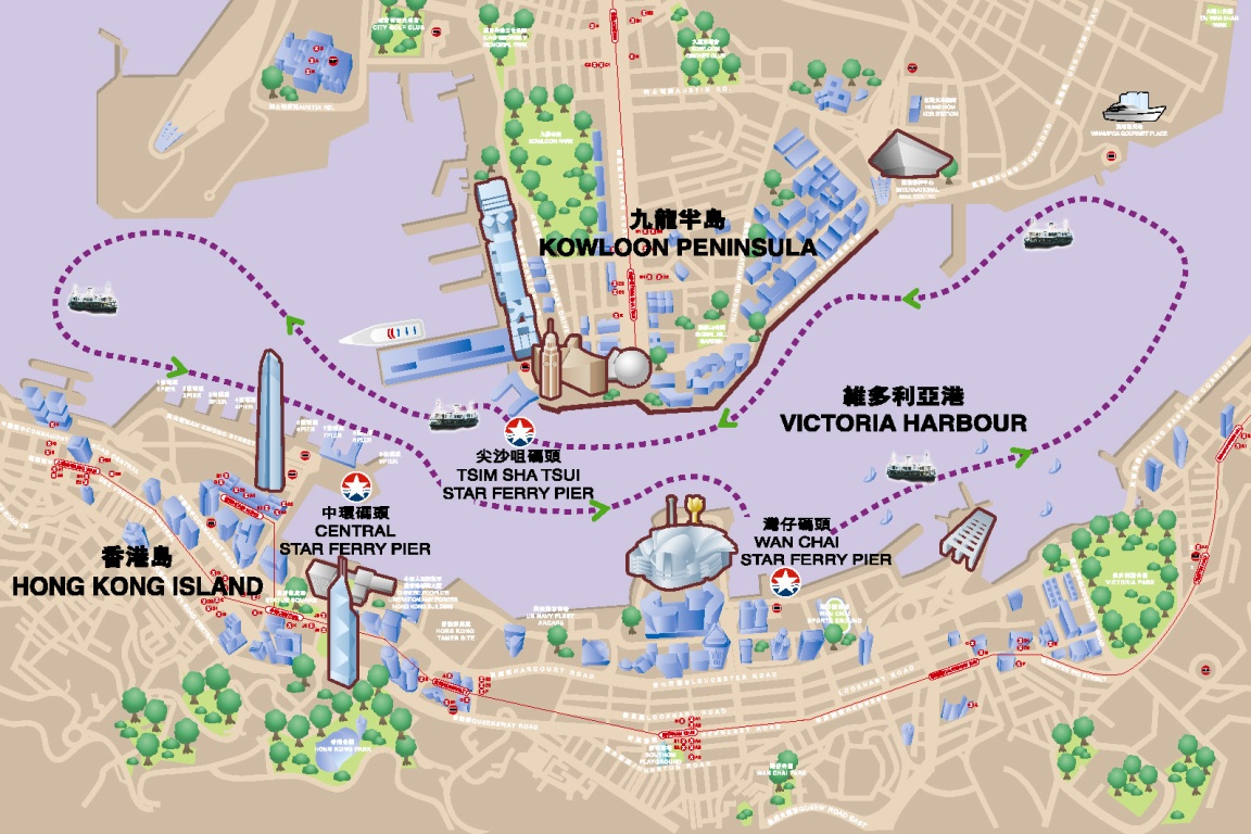 Harbour Tour Route Map
