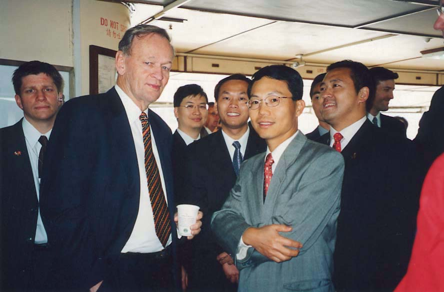 Canadian Prime Minister Jean Chretien visited in February 2001